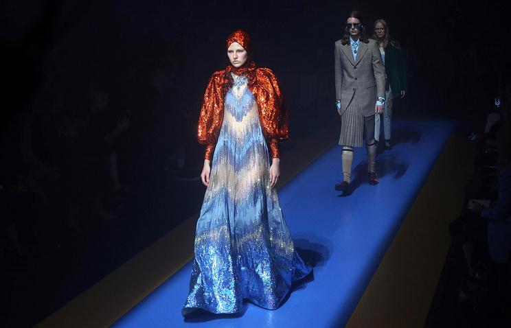 Показ коллекции Gucci на Неделе моды в Милане