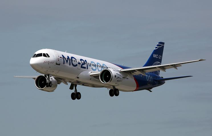 МС-21 прилетел сИркутского авиазавода вПодмосковье для последующих испытаний