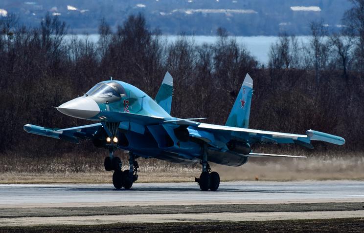 Бомбардировочная авиачасть ВВО получила партию новых Су-34