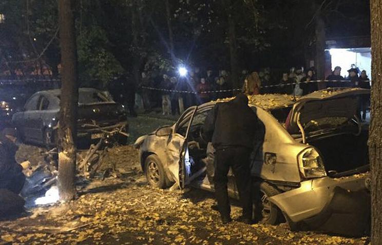 Жертвами взрыва вцентре украинской столицы стали два человека