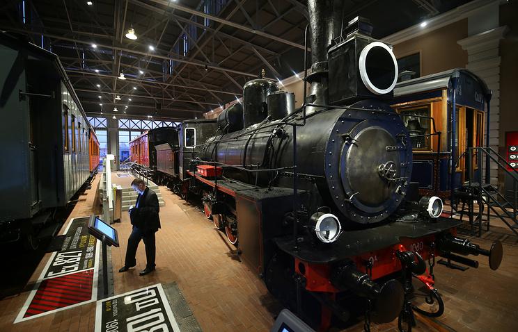 Паровоз в Музее железных дорог России