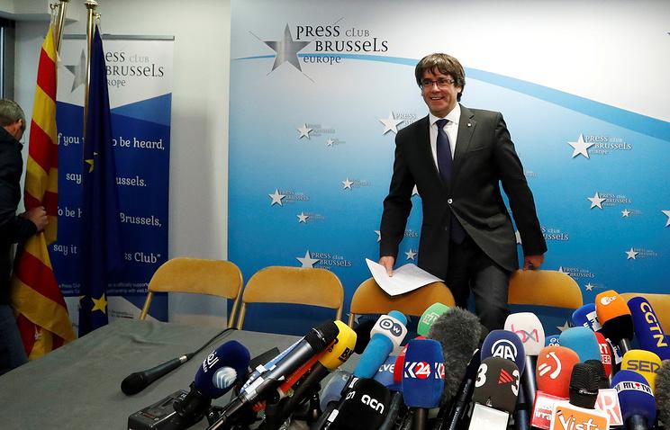 Отстраненный от обязанностей главы Каталонии Карлес Пучдемон