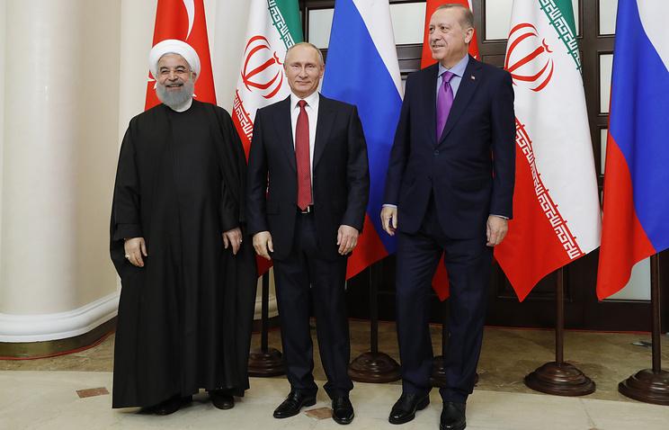 Политика: Владимир Путин встретился с лидерами Ирана и Турции