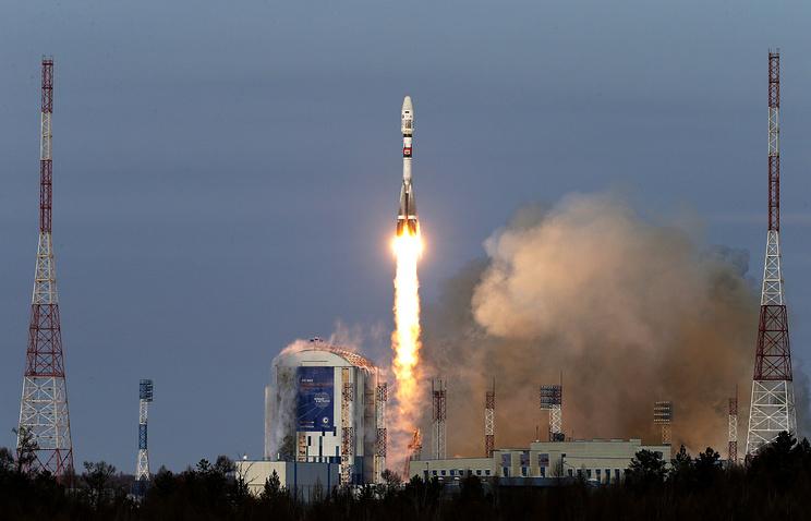 """Запуск ракеты-носителя """"Союз-2.1б"""" с космодрома Восточный"""