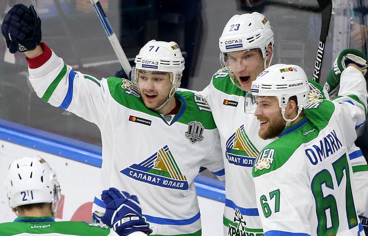 Дубль Хартикайнена принес «Салавату Юлаеву» победу над столичным «Динамо» вматче КХЛ
