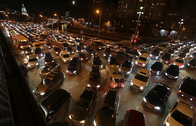 В российской столице зафиксированы девятибалльные пробки