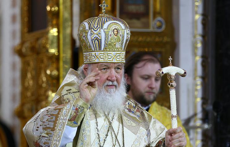 Патриарх Кирилл поздравил всех верующих сРождеством