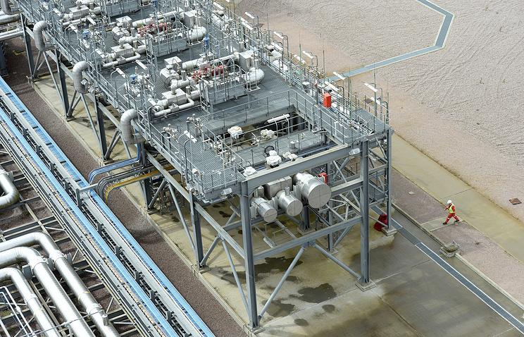Терминал Isle of Grain на заводе по производству сжиженного природного газа в Великобритании