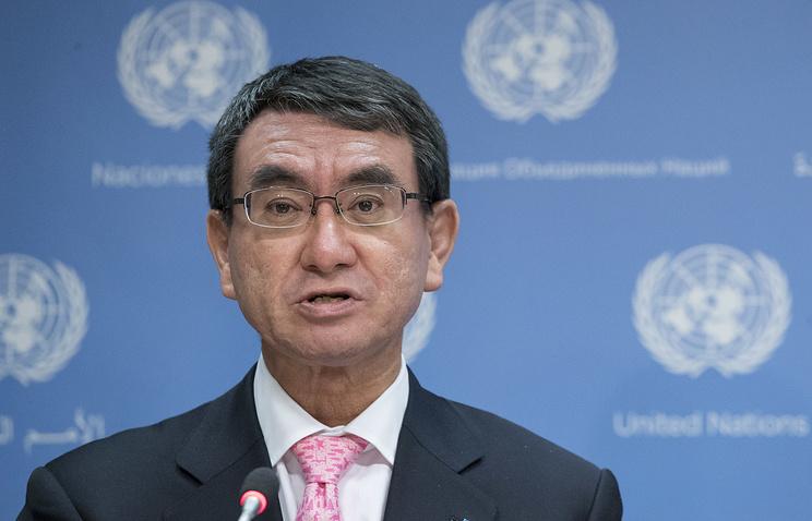 Глава МИД Японии Таро Коно