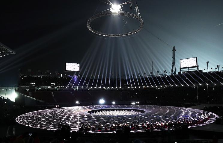 Церемония открытия Олимпиады 2018 года в Пхёнчхане