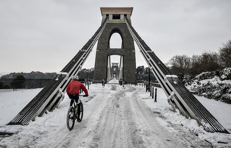 Холодная погода в Бристоле, Великобритания