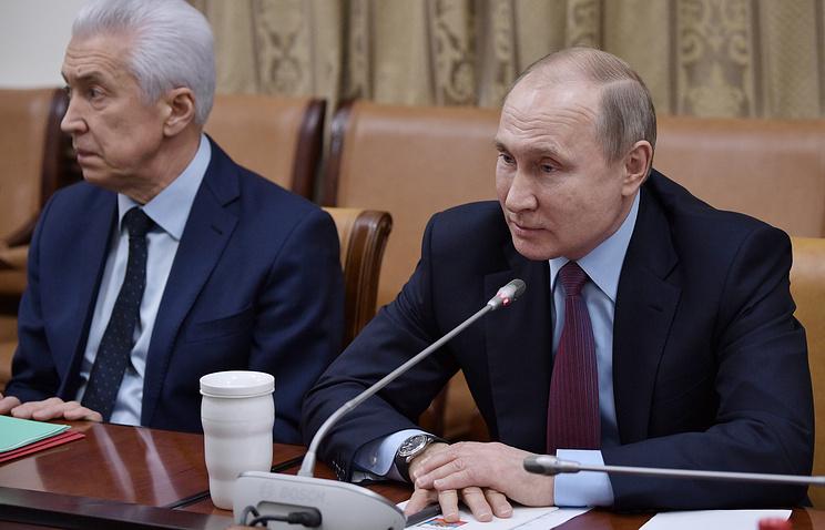 Временно исполняющий обязанности главы Дагестана Владимир Васильев и президент РФ Владимир Путин