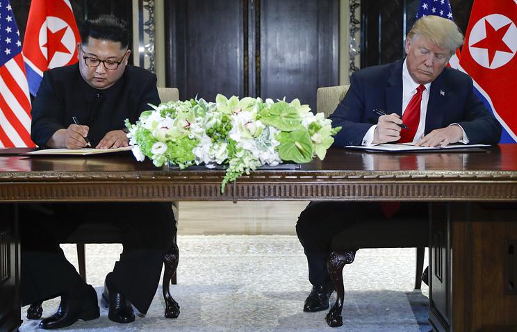 Стало известно, очем договорились Дональд Трамп иКим Чен Ын