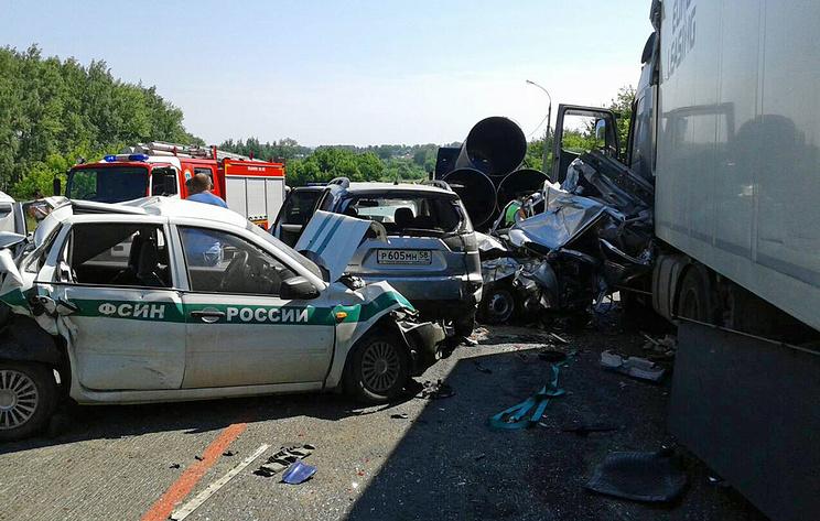 ВМокшанском районе столкнулись восемь машин
