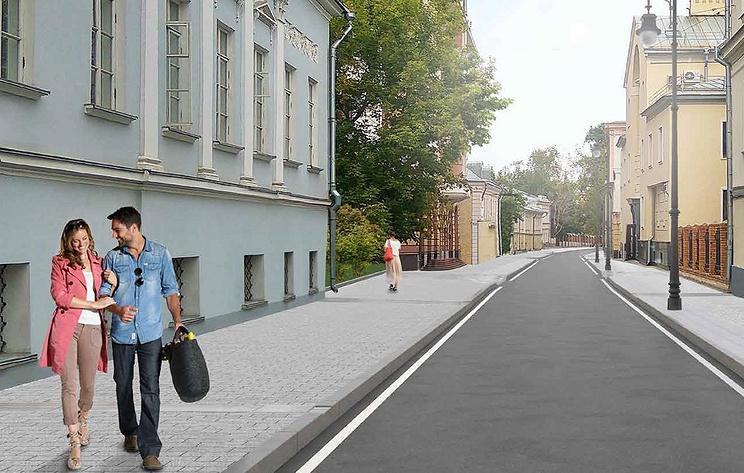 Основные работы по благоустройству завершены в Кадашевских переулках Москвы