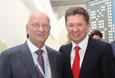 губернатор Оренбургской области Юрий Берг, глава Газпрома Алексей Миллер