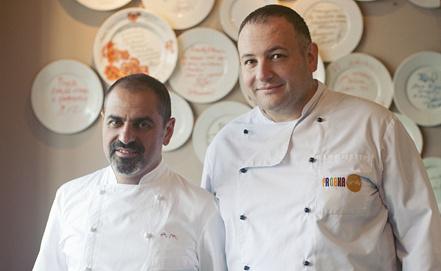 Фото предоставлено PR-службой ресторанной сети Probka, на фото - Арам Мнацаканов и Вальтер Бизоффи