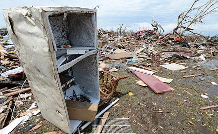 Холодильник из города Мур. Фото EPA/ИТАР-ТАСС