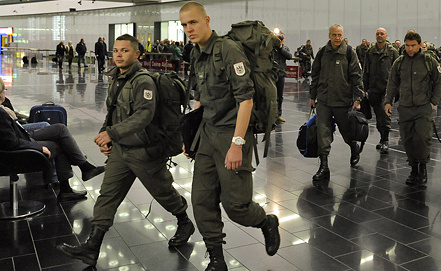 Австрийские миротворцы. Фото EPA/ИТАР-ТАСС