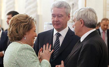 Валентина Матвиенко, Сергей Собянин, Георгий Полтавченко (слева направо). Фото ИТАР-ТАСС