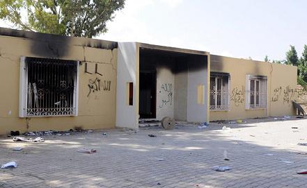 Территория атакованной дипмиссии США в Бенгази. Фото ЕРА/ИТАР-ТАСС