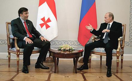 Михаил Саакашвили и Владимир Путин. Фото ИТАР-ТАСС