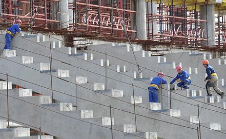 """Строительство стадиона """"Спартак"""". Фото ИТАР-ТАСС"""