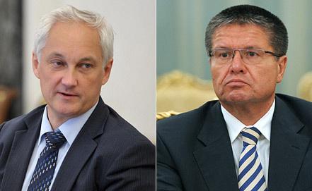 Андрей Белоусов (слева) и Алексей Улюкаев. Фото ИТАР-ТАСС