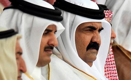 Тамим бен Хамад Аль Тани и Хамад бен Халифа Аль Тани. Фото EPA/ИТАР-ТАСС