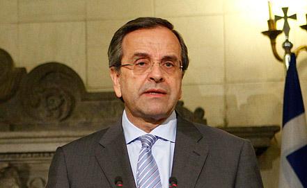 Премьер-министр Греции Антонис Самарас. Фото ИТАР-ТАСС