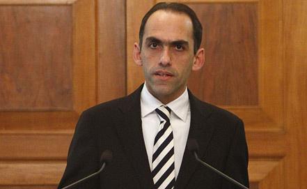 Министр финансов Кипра Харис Георгиадис. Фото ЕРА/ИТАР-ТАСС