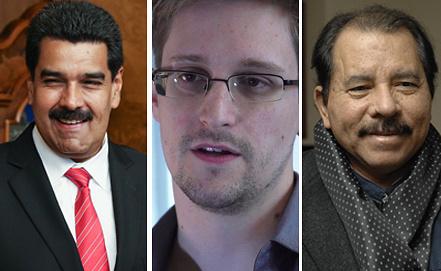 Мадуро, Сноуден, Ортега. Фото ЕРА/ИТАР-ТАСС