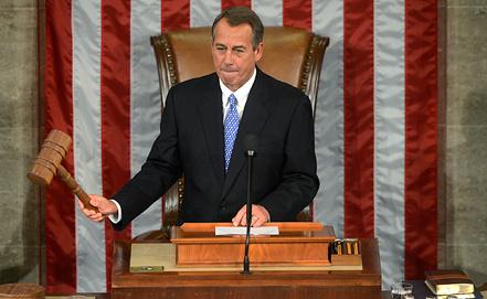 Спикер палаты представителей Конгресса Джон Бейнер. Фото ЕРА/ИТАР-ТАСС