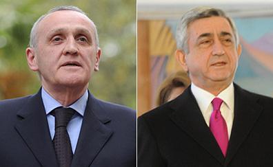 Александр Анкваб и Серж Саргсян. Фото ИТАР-ТАСС