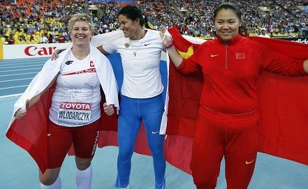 Фото EPA/ИТАР-ТАСС Анита Влодарчик, Татьяна Лысенко, Чжан Вэньсю /слева - направо/
