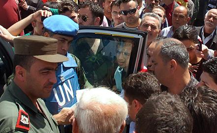 Представители миссии наблюдателей ООН в Сирии. Фото из архива EPA/ИТАР-ТАСС