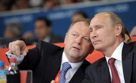 Мариус Визер и президент РФ Владимир Путин /слева направо/. Фото ИТАР-ТАСС / Алексей Дружинин