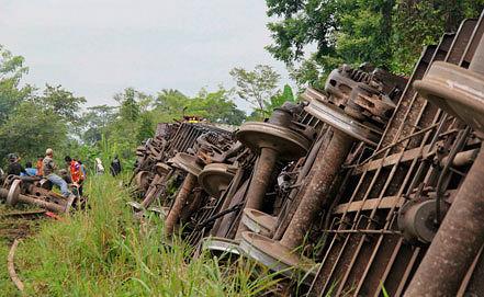 Железнодорожная катастрофа в Мексике. Фото EPA/ИТАР-ТАСС