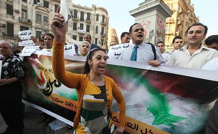 Акции против удара по Сирии в Каире. Фото ЕРА/ИТАР-ТАСС