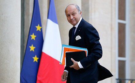 Министр иностранных дел Франции Лоран Фабиус.  Фото EPA/YOAN VALAT