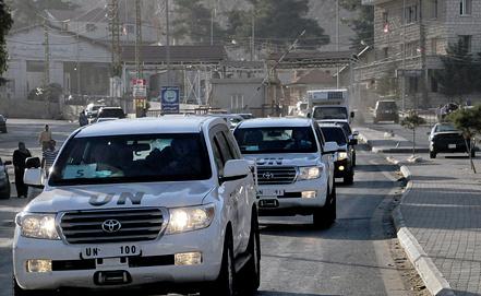 Инспекторы ООН в Сирии. Фото EPA/STR