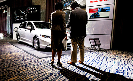 Honda Odyssey на презентации в Токио. Фото из архива EPA/DAI KUROKAWA