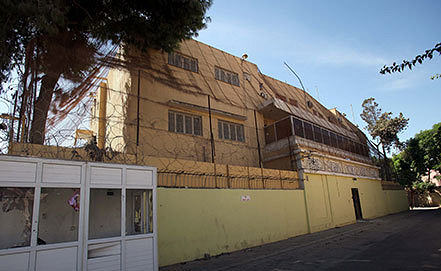 Российское посольство в Триполи. Фото EPA/SABRI ELMHEDWI