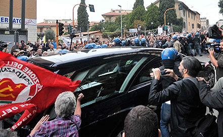 Гроб с телом Эриха Прибке в Риме. Фото AP Photo/Lapresse
