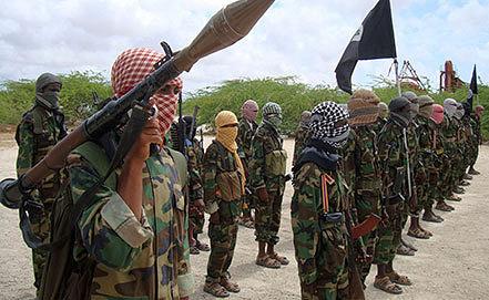"""Солдаты исламистской группировки """"Аш-Шабаб. Фото из архива AP Photo/Farah Abdi Warsameh"""