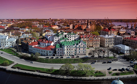 Исторический квартал Выборга. Фото ИТАР-ТАСС/ Руслан Шамуков