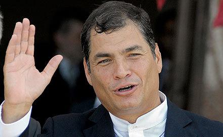 Президент Республики Эквадор Рафаэль Корреа Дельгадо. Фото AP Photo/Matilde Campodonico