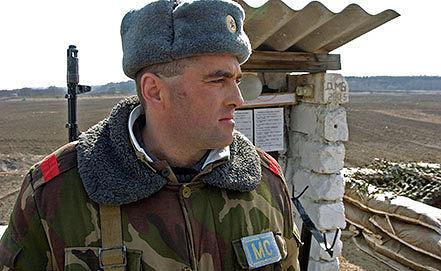Пост миротворцев на границе с Приднестровьем. Фото ИТАР-ТАСС/ Вадим Денисов