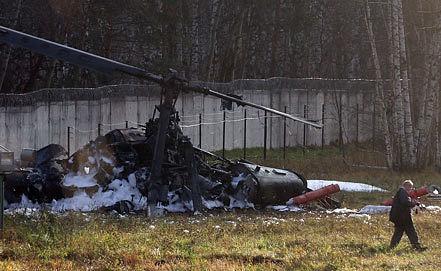 Место падения вертолета. Фото ИТАР-ТАСС/Артем Коротаев