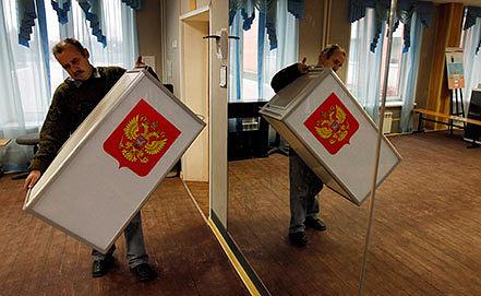 Подготовка к выборам. Фото ИТАР-ТАСС/ EPA/ YURI KOCHETKOV